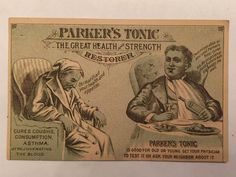 Victorian Trade Card Parker's Tonic Health Restorer Hair Balsam Quack Medicine   eBay