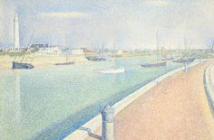 Georges Seurat, The Channel of Gravelines, Petit Fort Philippe,1890,  Modern art, Pointillism, Post-Impressionism, Neo-impressionism