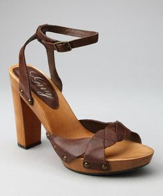 Look what I found on #zulily! Brown Leather Sensational Sandal by Envy #zulilyfinds