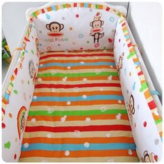 42.80$  Buy here - http://alisim.shopchina.info/1/go.php?t=32365023414 - Promotion! 6PCS Baby Bed Cotton Newborn Baby Bed for Crib Bedding Set (bumper+sheet+pillow cover) 42.80$ #magazineonlinewebsite