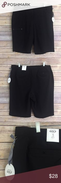 """NWT Chico's Zenergy Golf Shorts, black size 3 (XL) These Chico's NWT black Zenergy Golf Shorts are comfortable and have plenty of stretch! They are a size 3 from Chicos which is an XL or a Size 16.  Waist measures 20"""" flat across without stretching! Chico's Shorts"""
