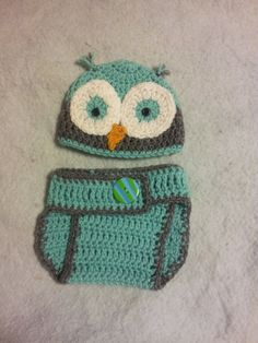 New born owl hat and diaper cover set by 123farmhousegifts on Etsy, $16.00
