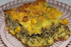 Ground Beef/Jalapeno Cornbread Casserole