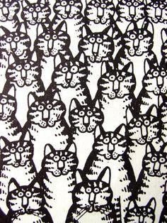 Set Of 7 B Kliban Retro Cats Invitations By GoodlookinVintage