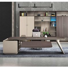 Modern Office Table, Office Table Design, Office Furniture Design, Office Interior Design, Office Interiors, Reception Table Design, Home Office Table, Business Office Decor, Small Home Offices