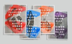 Building Fashion / work from Watson & Company. via Cosas Visuales. #print #graphic design