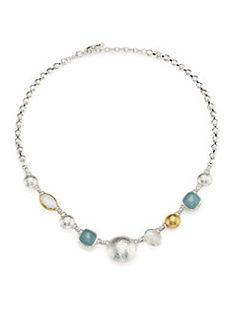 GURHAN - Lentil Semi-Precious Multi-Stone 24K Yellow Gold & Sterling Silver Storm Necklace