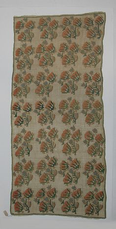 Cover  Date:     18th–19th century Geography:     Turkey, Eregli Culture:     Islamic Medium:     Cotton and silk-thread; embroidered