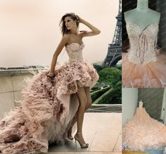 2014 Luxury Ostrich Feather Prom Dresses Amazing Beads And Appliqued ...