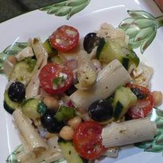 Pasta Salad Greek Style - Pasta Salad Greek Style - made this today...great taste, dressing mixed with avocado was so yummy.