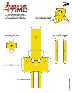Paper Toy Art do Adventure Time Adventure Time Birthday Party, Adventure Time Parties, 3d Paper Crafts, Paper Toys, Foam Crafts, Adveture Time, Minecraft Crafts, Mini Things, Paper Models