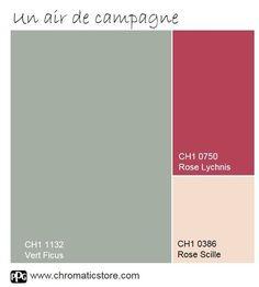 Une palette inspirée des fleurs des champs, idéale pour une salle à manger. www.chromaticstore.com #inspiration #couleur #vert #ficus