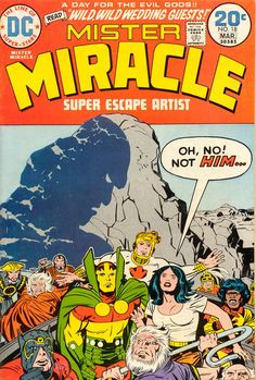 Comic Book Covers-Mister Miracle #18, March 1974, cover by Jack Kirby
