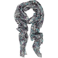 Bindya Digital Panther wool and silk-blend scarf, found on polyvore.com