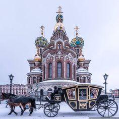 In frosty St. Petersburg, Russia.