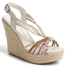 b06d4ebc29f9 Women s Eve Wide Width Footbed Quarter Straps Wedge Sandals - Merona ...