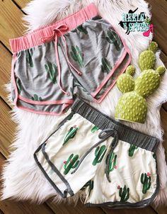 Funky Cactus Shorts