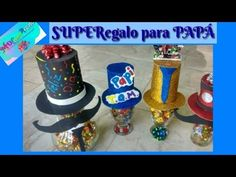 REGALOS PARA PAPÁ FATHER'S DAY by MDCchocoregalo - YouTube Birthday Candles, Diy, Youtube, Craft Videos, Creative Crafts, Wrapped Wine Bottles, Floral Motif, Bottle, Bricolage