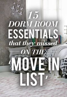 15 Dorm Room Essentials That They Missed On The U0027Move In Listu0027! Iu0027ve  Compiled A List Of 15 Things Freshman Need In Their Room To Survive Their  First Year ... Part 77