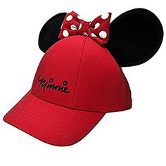 58446054c28 Disney Womens Minnie Mouse Cap With Bow  amp  Ears Red at Amazon Women s  Clothing store