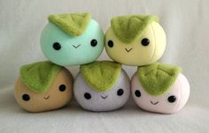 Mochi dessert rice ball plush by ValkyriaCreations on Etsy