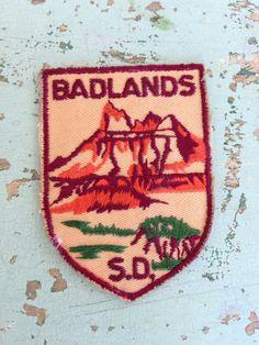 Badlands South Dakota Vintage Travel Patch