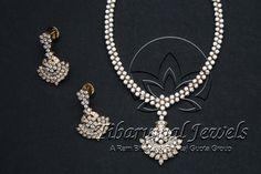 Tiraa by Tibarumal Jewels Fancy Jewellery, Gold Jewellery Design, Temple Jewellery, American Diamond Jewellery, Diamond Jewelry, Pearl Diamond, Diamond Necklace Simple, Pakistani Jewelry, India Jewelry