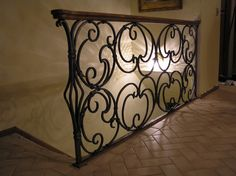 Hand forged wrought iron railing by Stephen Helsberg