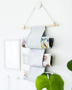 Rangement mural pour revues / fabriquer un porte revues / rangement magazines diy