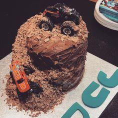 Monster truck / monster jam cake for my nephew