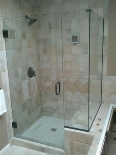 Gorgeous Frameless Walk In Shower. #bathroomremodel
