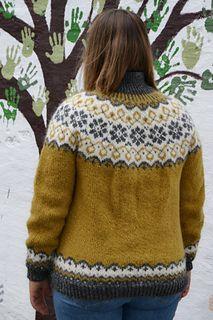 Ravelry: Sundrops Cardi / Solgløtt-kofte pattern by Vanja Blix Langsrud Crochet Trim, Double Crochet, Knit Crochet, Pullover Design, Sweater Design, Fair Isle Pullover, Knit Stockings, Garter Stitch, Hand Dyed Yarn