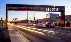 Located in Phoenix, Arizona, the Melrose District has solidified itself as a vibrant neighborhood known for its eclectic shops and businesses. Entrance Sign, Entrance Gates, Wayfinding Signage, Signage Design, Environmental Graphics, Environmental Design, Monument Signage, Urban Ideas, Gate Way