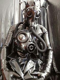 mask suit Bdsm cat gas