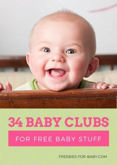 34 Baby Clubs to Join for New Moms Do you want free baby stuff? We've compiled this Big List of Baby Clubs for New and Expecting Moms. You'll get free baby stuff, baby samples, Cheap Baby Stuff, Free Baby Stuff, Babies Stuff, Baby Coupons, Free Baby Samples, Baby Freebies, Baby Club, Baby On A Budget, Free Diapers