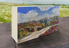 Scenic Drive, National Park, outdoors, small painting, wall art, painting on wood, Christmas, Kristin Gibson, outdoor explorer, outdoor gift National Park Gifts, National Park Posters, National Parks, Park Art, Small Paintings, Painting On Wood, Outdoors, Explore, Handmade Gifts