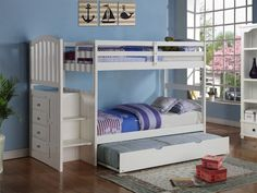 Bunk Bed Stairs & Trundle in Twin/Full - Custom Kids Furniture