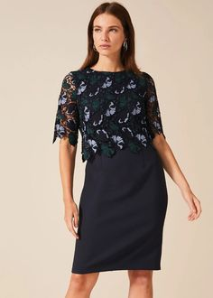 It's the standout lace bodice and sheer sleeve detail on this modern occasion style that we just can't get enough of. Phase Eight Phase Eight Dresses, Blue Dresses, Formal Dresses, Blue Gown, Lace Bodice, Blue Lace, Occasion Dresses, Fitness Fashion, Gowns