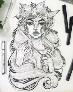 ▷ 1001 + ideas for cool things to draw - photos and tutorials cool things to draw - Drawing Tips Tatoo Books, Easy Drawings, Pencil Drawings, Pencil Art, Tattoo Drawings, Tattoos, Character Sketches, Character Design, Art Tumblr
