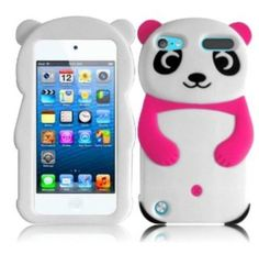 New Pink 3d Panda Bear iPod 5 Case