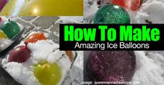 We've shared how to make ice lanterns... but have you ever wondered how to make ice balloons? At the Queen Vanna Creations blog they share the idea from a Flickr image they saw during summer time. Included are pictures and information on how to make ice balloons. Make sure you also... #fal #win