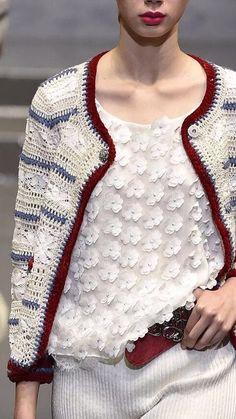 Crochet Bolero, Gilet Crochet, Crochet Jacket, Freeform Crochet, Crochet Cardigan, Knit Crochet, Knitwear Fashion, Knit Fashion, Crochet Magazine