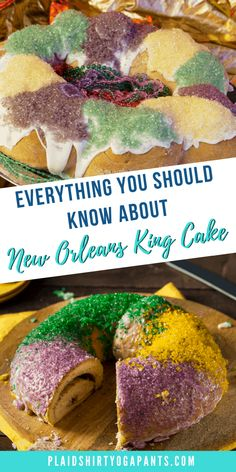 Where to find and ship the Best New Orleans King Cake and a Full History Easy Cake Recipes, Unique Recipes, New Orleans King Cake, Cake Festival, King Cake Recipe, Cream Cheese Filling, Fondant Cakes, Foodie Travel, Mardi Gras
