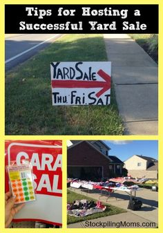You will make more money on your next yard sale when you use these tips! #yardsale
