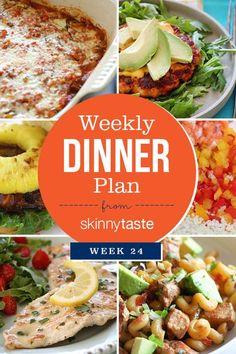 Skinnytaste Dinner Plan (Week 24)