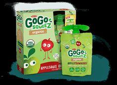 Organic AppleStrawberry - Organic Applesauce - GoGo squeeZ