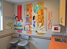 "www.JMS-ART.com  Pediatric Practice ""The Library"" Exam Room by jms artist, via Flickr"