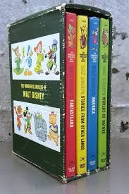 """Vintage 1965 4 Volume Childrens Book Set """"Wonderful Worlds of Walt Disney"""" Edition From Golden Press NY Color Illustrations Hardcover by MidModery on Etsy Childhood Memories 90s, 1970s Childhood, Childhood Toys, Sweet Memories, Classic Toys, Old Toys, The Good Old Days, My Children, Vintage Toys"""