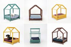 These Cozy Den-Like Dog Beds Look Like Unfinished House Frames #dogs trendhunter.com