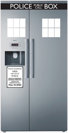 Police Box fridge decal (from Bjorn) I need this!!!